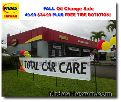Midas Hawaii Oil Change Online Sale Coupon Discount Offer 34 99