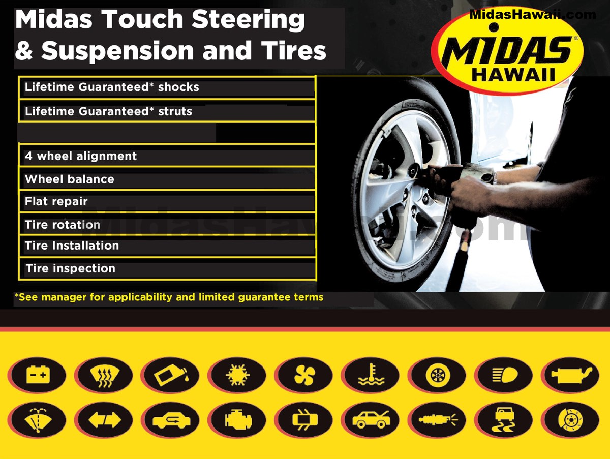 Auto Suspension Shop Near Me >> Midas Touch Steering Suspension And Tires Oil Change